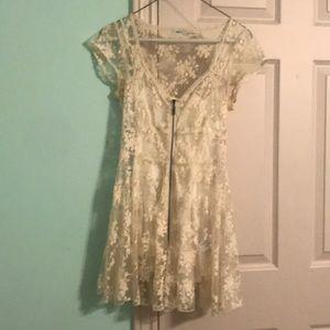 Mini Lace Slip Dress